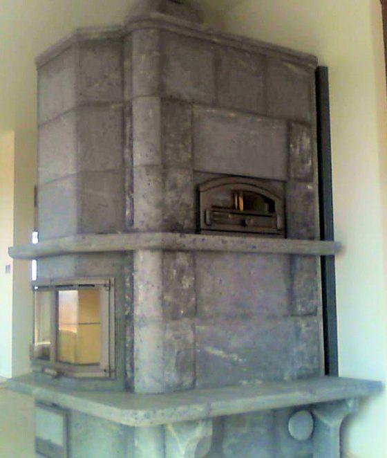 Custom fireplace bakeoven